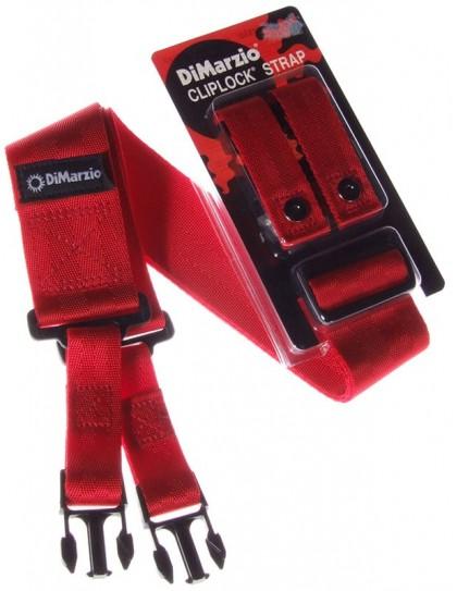 DiMarzio ClipLock Nylon Red DD2200 gitárpánt