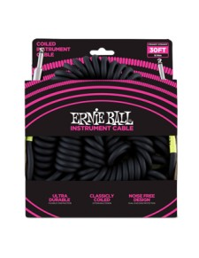 Ernie Ball 9 m fekete telefonzsinór kábel