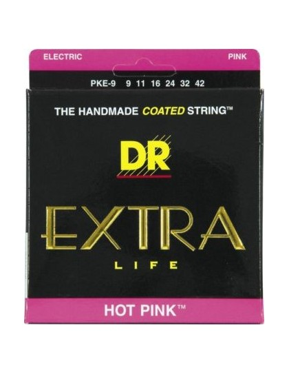 DR Strings K3™ HOT PINK 9 gitárhúr
