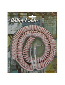 Core One Bullet Coiled Cable Red&White 9 m