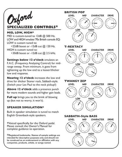 Tech21 SansAmp Character Oxford pedál