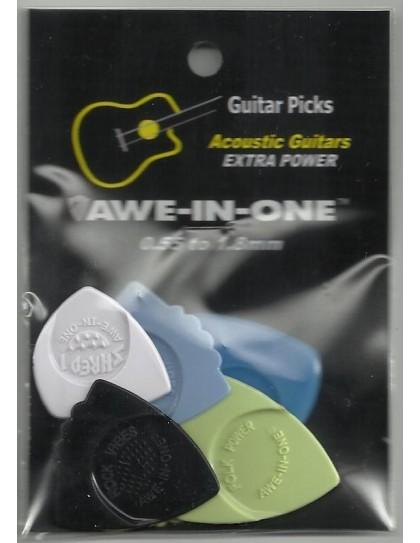 Awe-In-One Acoustic Selection Pack (5 pengető)